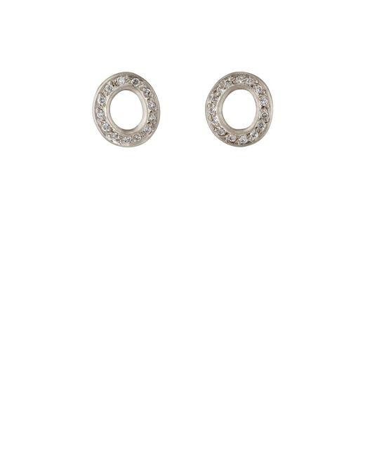Malcolm Betts - Metallic Open Disc Stud Earrings - Lyst