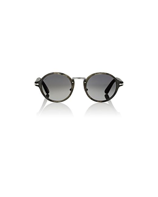 Persol - Gray Round Sunglasses for Men - Lyst