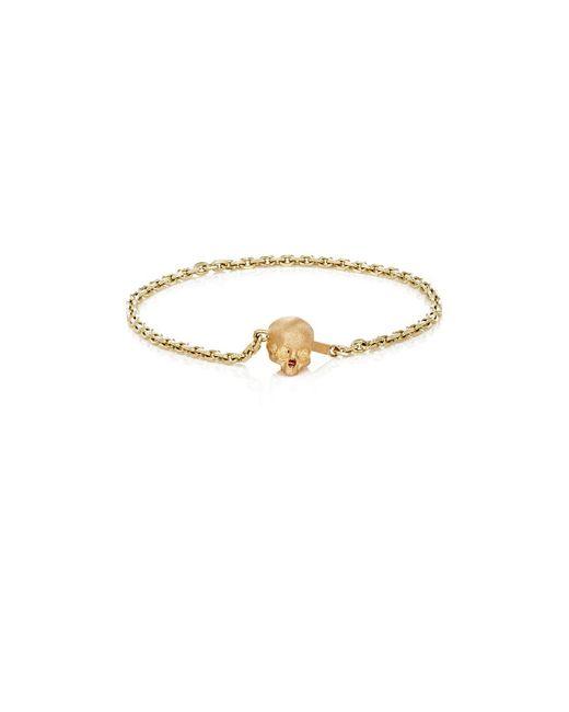 Luis Morais - Metallic Half-skull-clasp Chain Bracelet - Lyst