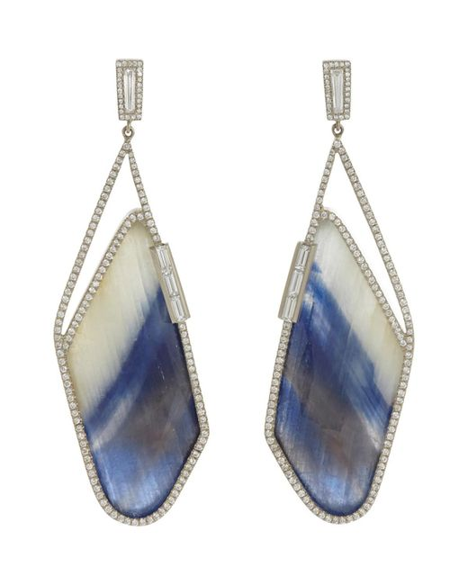 Monique Péan - Metallic Diamond & Sapphire Slice Earrings - Lyst