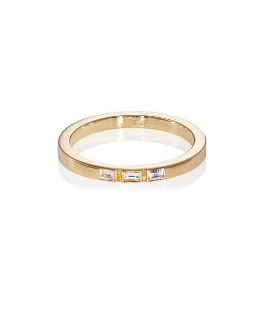 Ileana Makri - Metallic Baguette White Diamond Threadband - Lyst