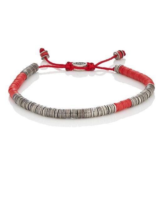 M. Cohen | Red Rondelle Bracelet | Lyst