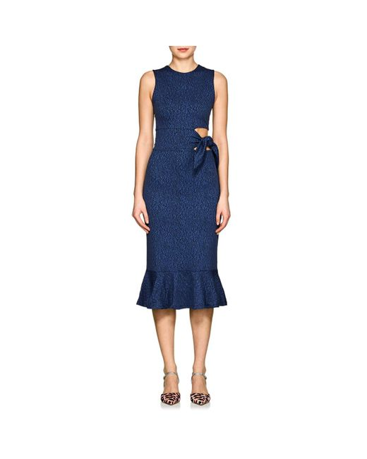 Opening Ceremony - Blue Lotus Marled Knit Cutout Dress - Lyst