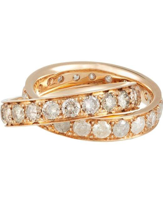 Roberto Marroni - Metallic Stacked Ring Size 6.5 - Lyst