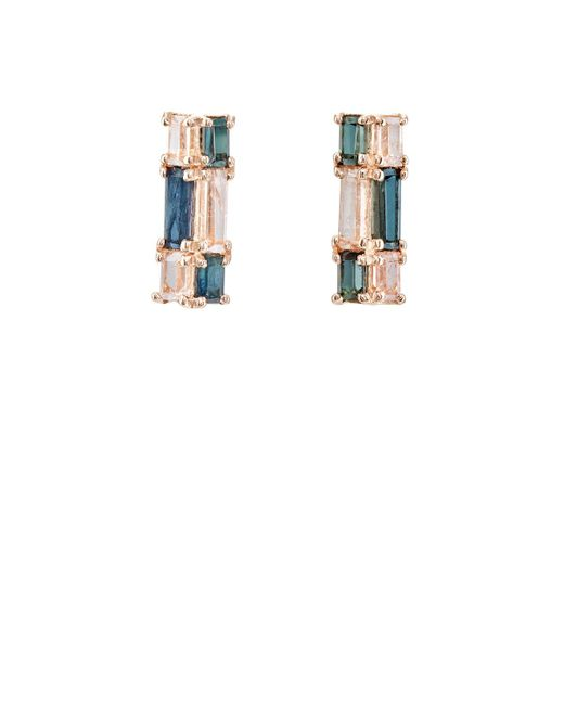 Nak Armstrong - Multicolor Mosaic Bar Stud Earrings - Lyst