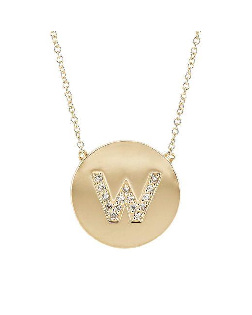 Jennifer Meyer - Metallic Initial Pendant Necklace - Lyst