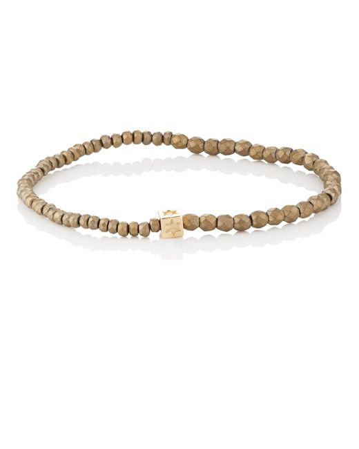 Luis Morais - Metallic Beaded Bracelet for Men - Lyst