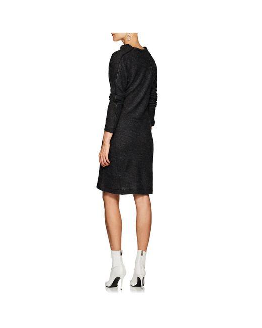 b0ce371ddfb ... Helmut Lang - Black Wool-blend Asymmetric Sweaterdress - Lyst ...