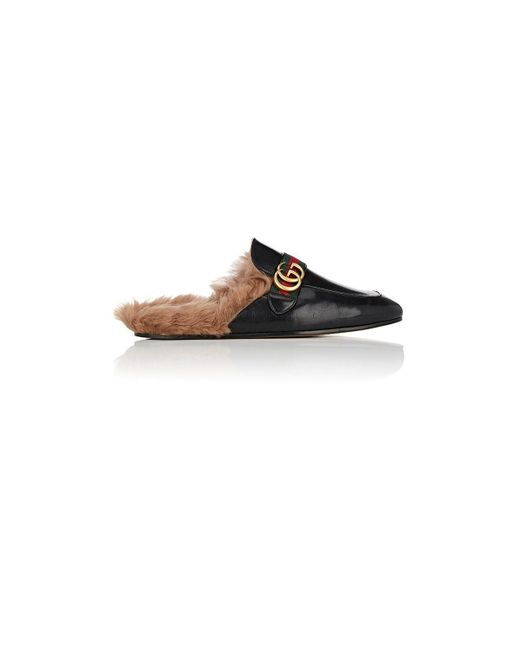 Gucci - Black New Princetown Leather Slippers for Men - Lyst