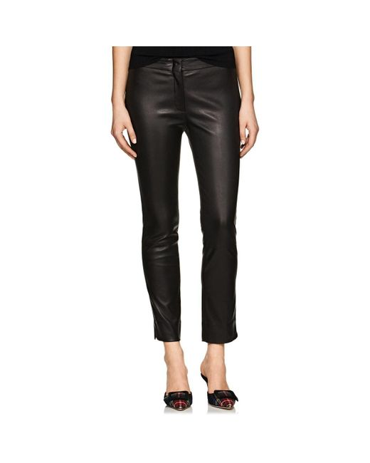 Derek Lam - Black Drake Leather Crop Pants - Lyst