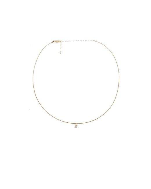 Loren Stewart | Metallic Diamond Pendant On Wire Choker | Lyst