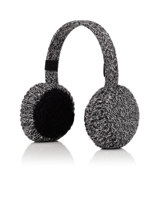 Rag & Bone - Gray Sutton Cashmere & Shearling Earmuffs - Lyst