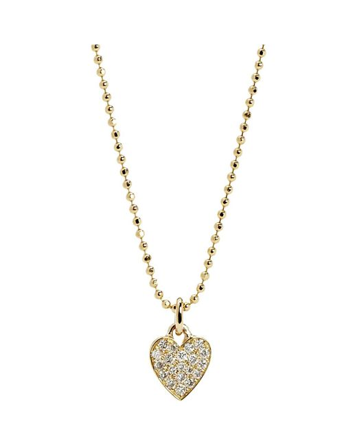 Jennifer Meyer - Metallic Heart Pendant Necklace - Lyst