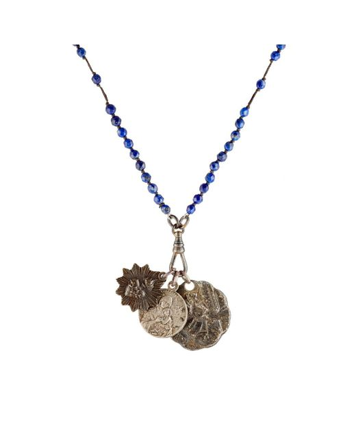 Miracle Icons - Blue Beaded Pendant Necklace for Men - Lyst