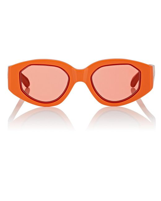 a53865c43f Karen Walker - Orange Castaway Sunglasses - Lyst ...