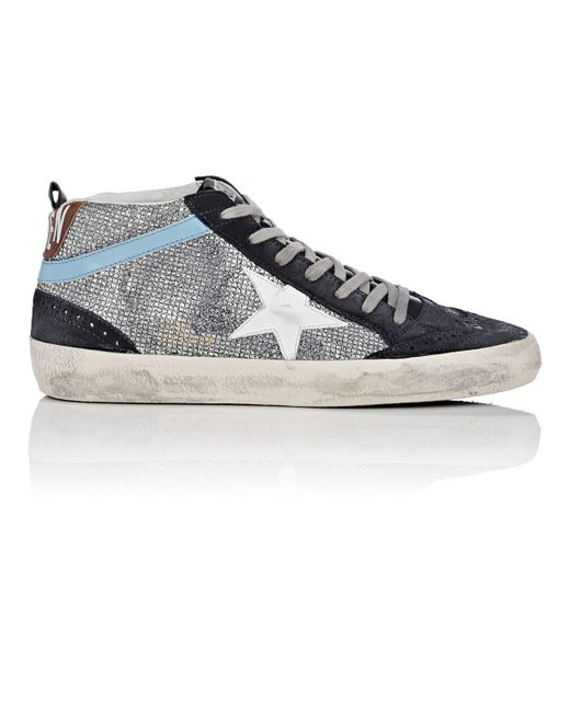 07823e6367b5 Lyst - Golden Goose Deluxe Brand Mid Star Suede Sneakers in Metallic ...
