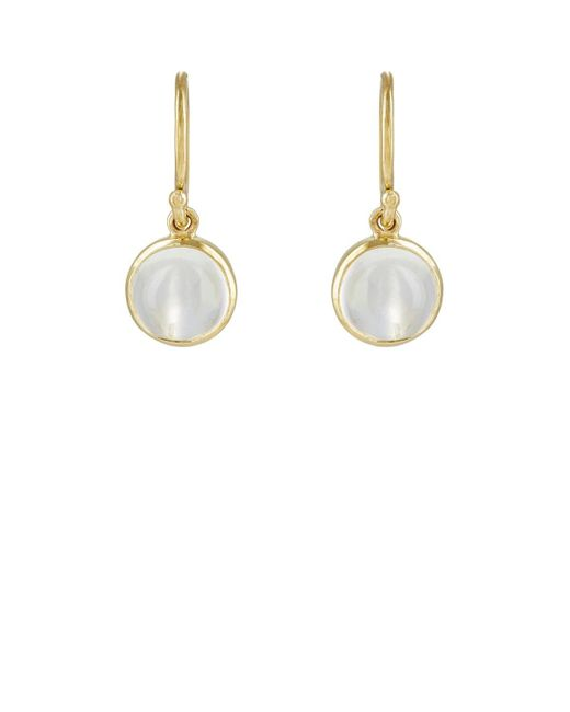 Finn | Metallic Cabochon Drop Earrings | Lyst