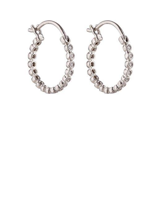 Cathy Waterman | Metallic White Diamond Circle Hoops | Lyst