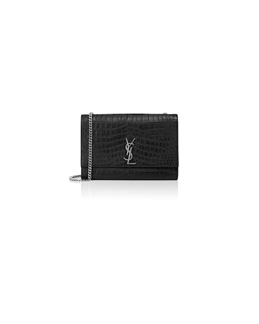 Saint Laurent - Black Monogram Kate Large Chain Bag - Lyst