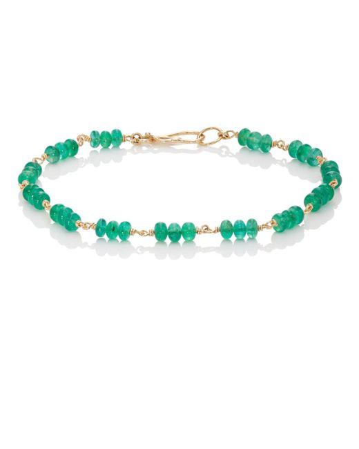 Dean Harris - Green Emerald Beaded Bracelet - Lyst