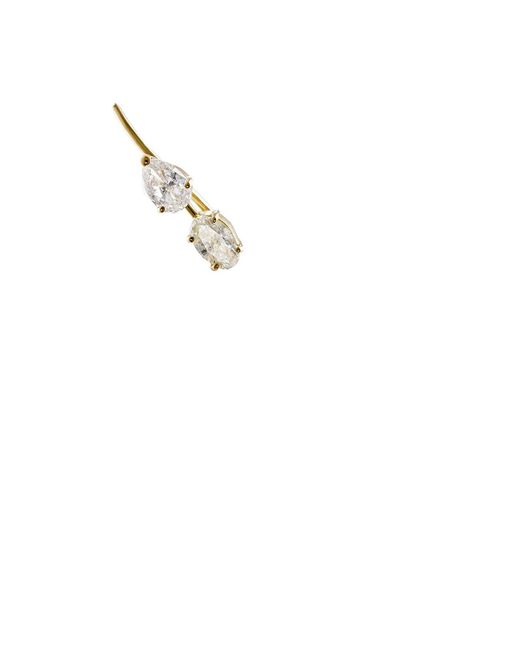 Ileana Makri | Metallic White Diamond Branch Ear Cuff | Lyst