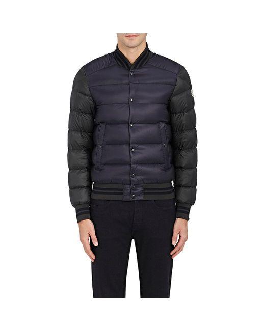Moncler | Green Colorblocked Varsity Puffer Jacket | Lyst