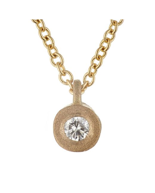 Tate | Metallic White Diamond Pendant Necklace | Lyst