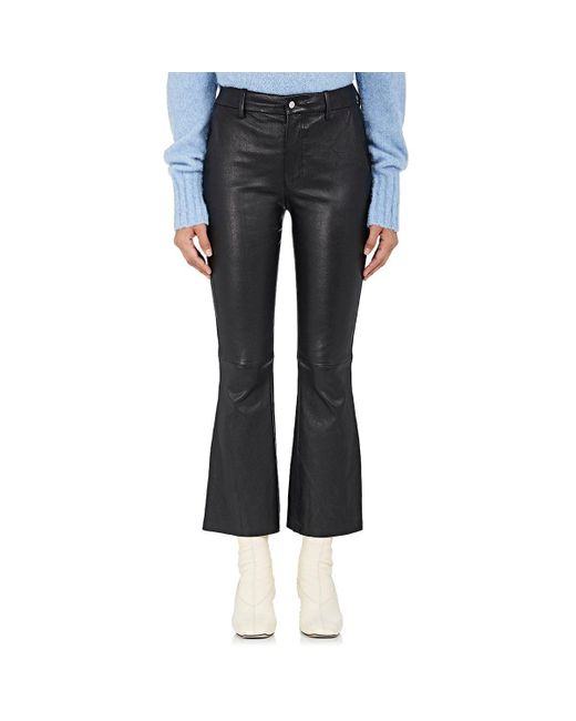 Helmut Lang | Black Leather Flared Pants | Lyst