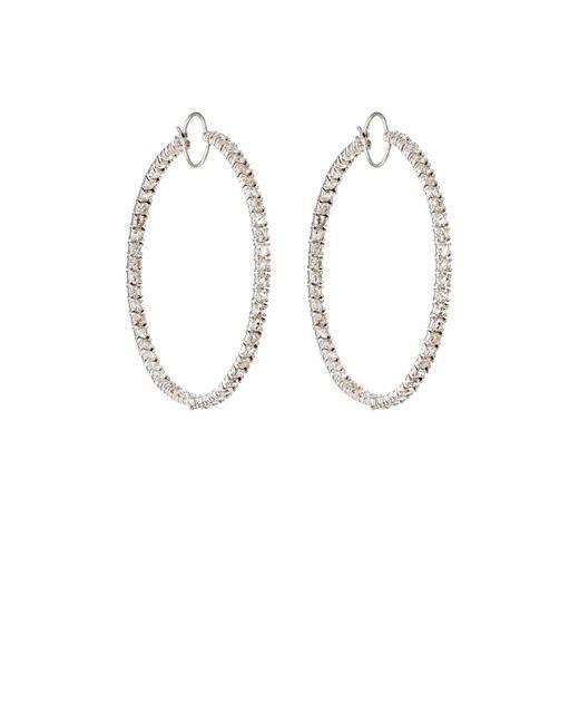Irene Neuwirth | Metallic White Diamond Hoop Earrings | Lyst