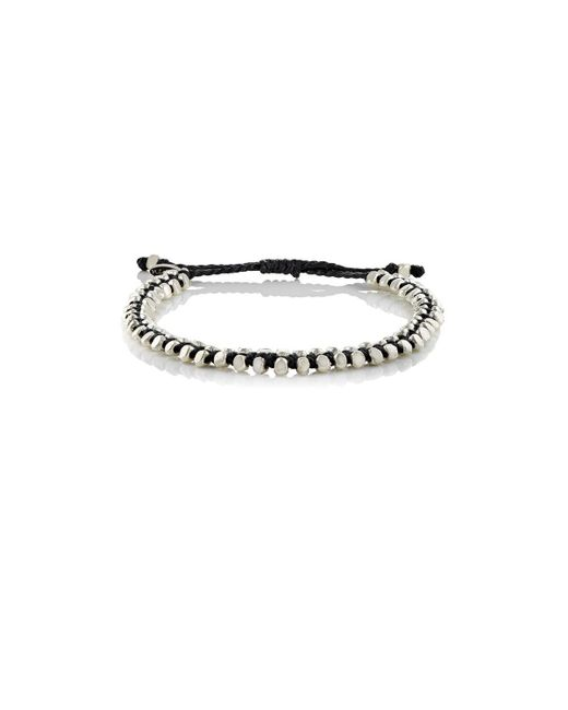M. Cohen | Black Beaded Waxed Cord Bracelet | Lyst