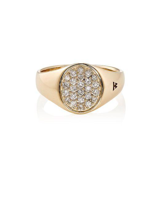 Tom Wood - Metallic Mini Signet Oval Ring - Lyst