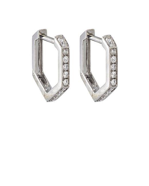 Eva Fehren - Metallic Hexagon Hoop Earrings - Lyst