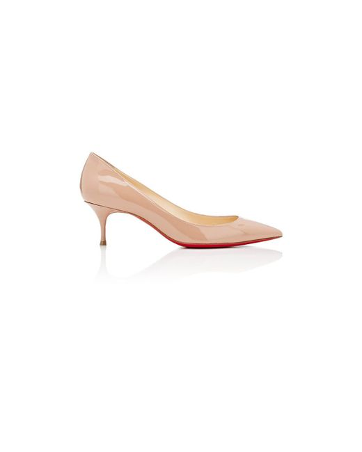 Christian Louboutin - Pink Pigalle Follies Low Patent Leather Pumps - Lyst