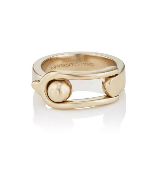 Goossens Paris - Gray Boucle Ring - Lyst