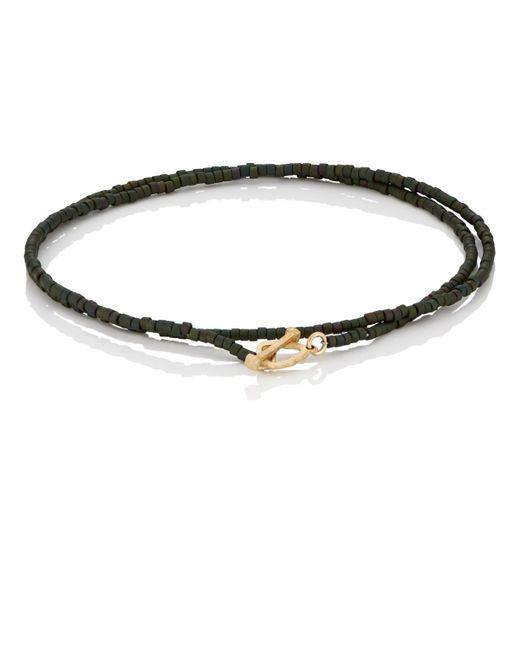 Luis Morais - Green Beaded Double-wrap Bracelet for Men - Lyst