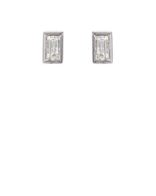 Ileana Makri - Baguette White Diamond Stud Earrings - Lyst