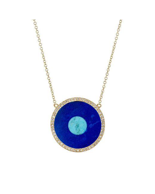 Jennifer Meyer - Yellow Evil Eye Pendant Necklace - Lyst
