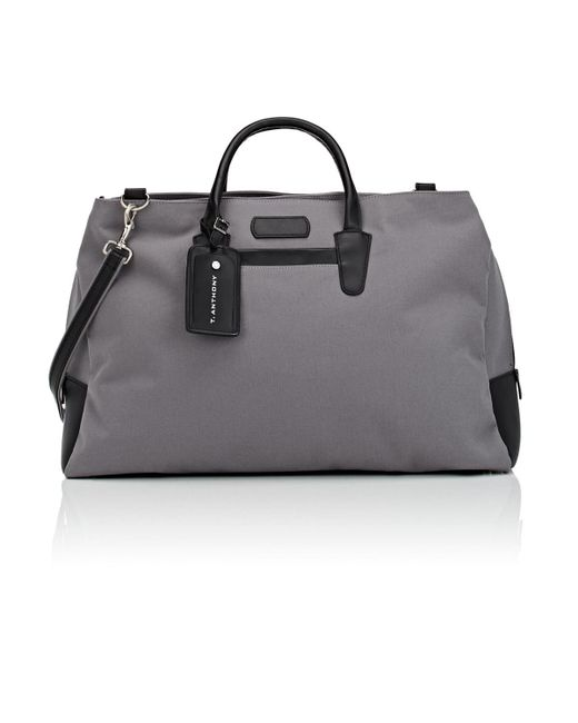 acf273e802e0 Lyst - T. Anthony Canvas   Leather Weekender Bag in Gray for Men ...