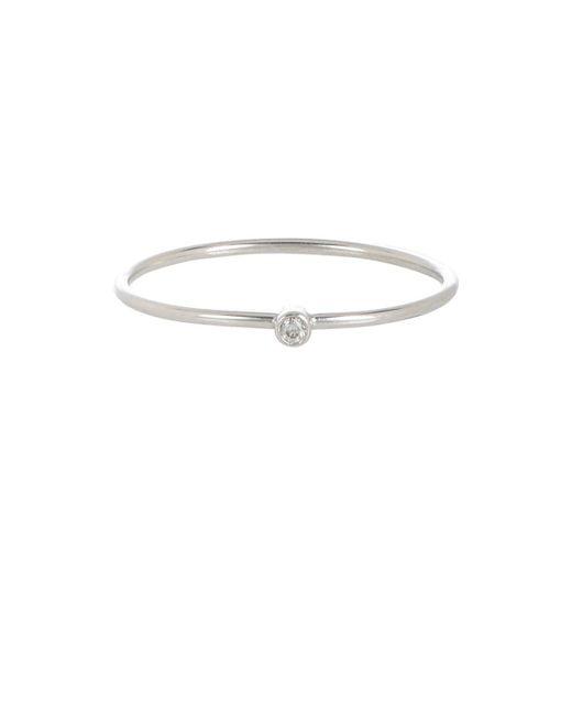 Jennifer Meyer - Metallic Diamond Thin Ring - Lyst