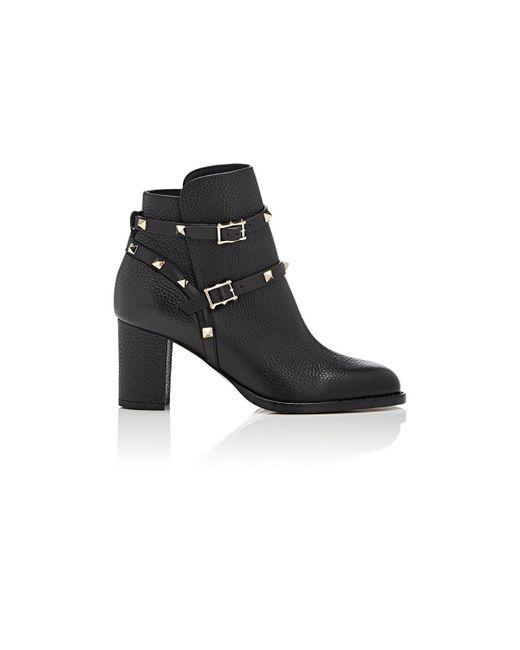 Valentino - Black Rockstud Double-strap Boots - Lyst