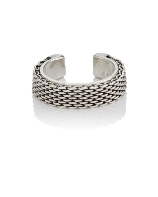 Title Of Work - Metallic Sterling Silver Cuff Ring for Men - Lyst