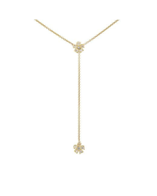 Jennifer Meyer - Metallic Floral Charms On Y-strand Necklace - Lyst