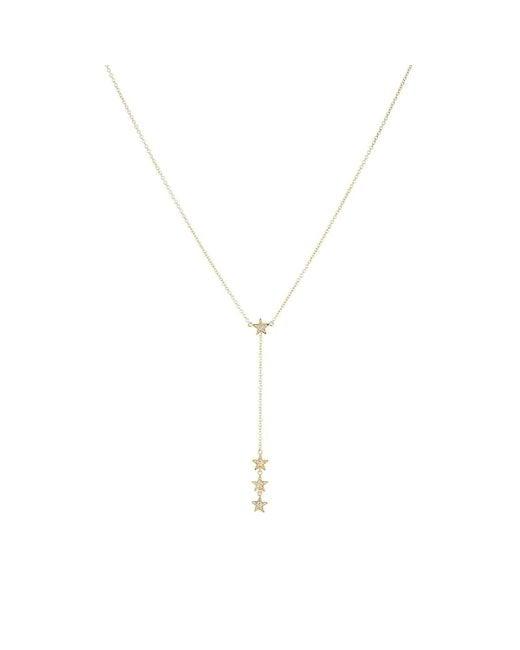 Jennifer Meyer - Metallic Diamond Star Lariat Necklace - Lyst