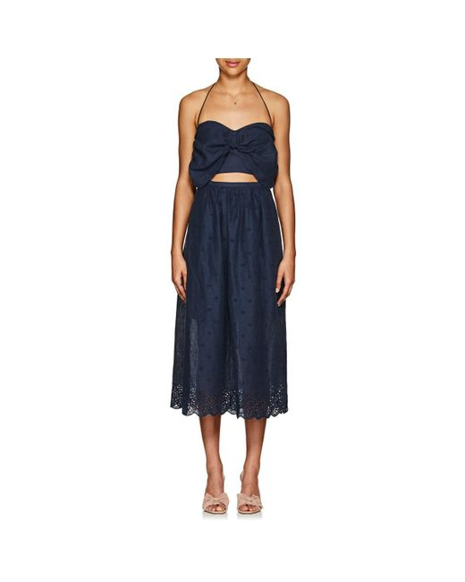 Zimmermann - Blue Iris Linen Eyelet Picnic Dress - Lyst