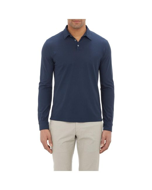 Zanone - Blue Slub Polo Shirt for Men - Lyst