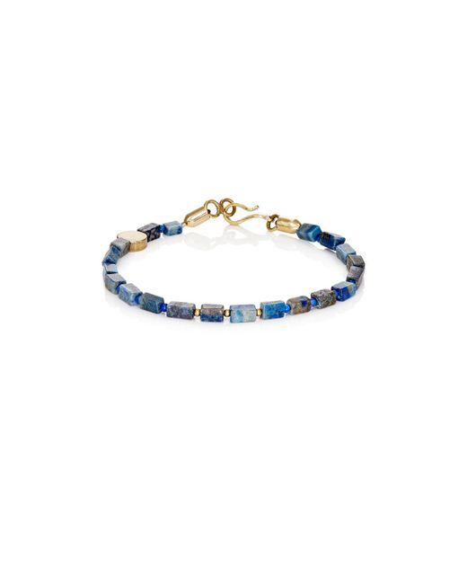 Caputo & Co.   Metallic Lapis Lazuli Beaded Bracelet   Lyst