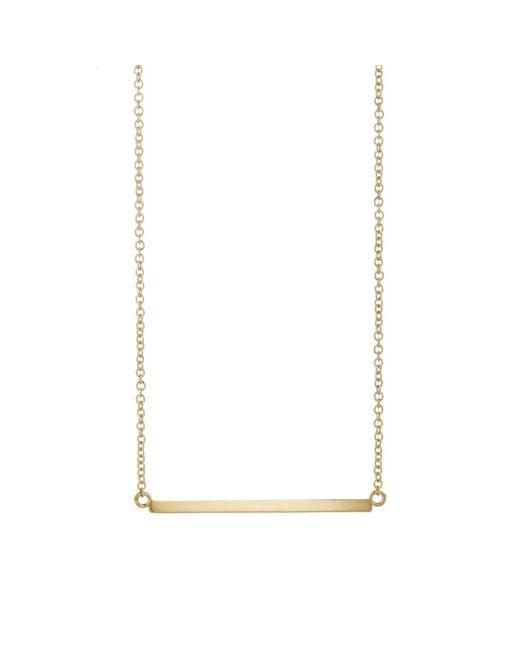 Jennifer Meyer - Metallic Yellow Gold Bar Pendant Necklace - Lyst