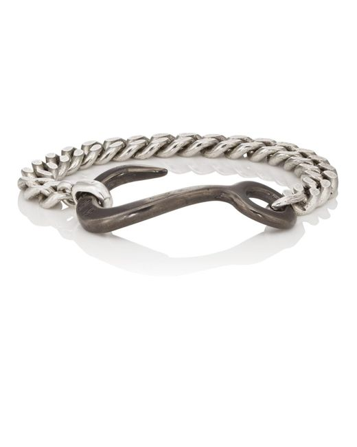 Giles & Brother - Metallic Hook Chain Bracelet for Men - Lyst