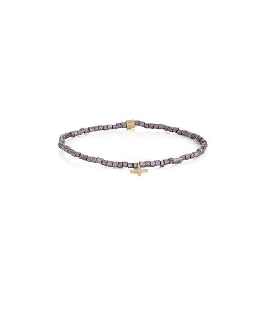 Luis Morais - Multicolor Cross-charm Beaded Bracelet for Men - Lyst