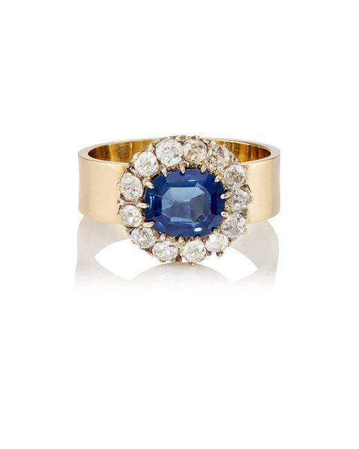 Renee Lewis | Blue White Diamond & Sapphire Ring | Lyst